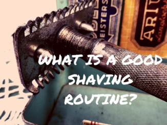 shaving routine