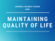 Maintaining quality of life